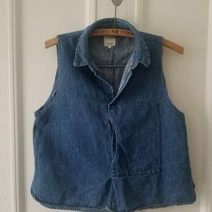 Sleeveless Zara denim shirt